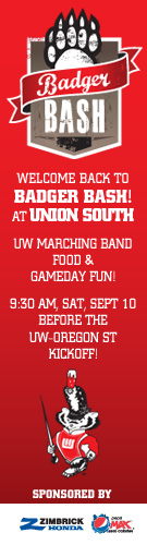 Ad: Badger Bash, UW versus Oregon State