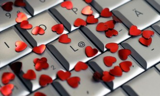 Photo: Keyboard with hearts