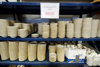 Photo: Dishes for sale at SWAP