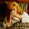 Photo: woman with flu