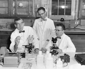 Photo: Harry Waisman and colleagues in the labl