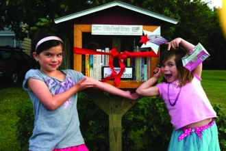 Photo: Little Library with kids