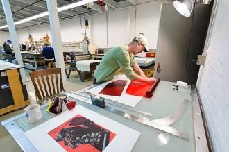 Photo: printer at Tandem Press