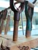 Photo: sculpture of shovel handles