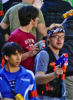 Photo: student with Nerf blaster