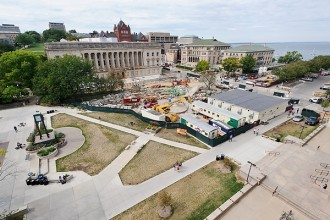 Photo: Library Mall construction