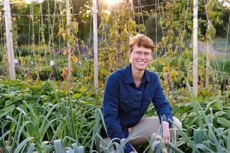 Photo: Julie Dawson in vegetable garden