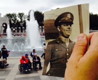 Photo: Garren photo at WWII Memorial