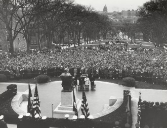 Photo: JFK memorial service on Bascom Hill