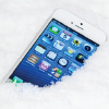 Photo: Cell phone in the snow