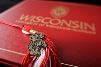 Grad tassel and diploma cover