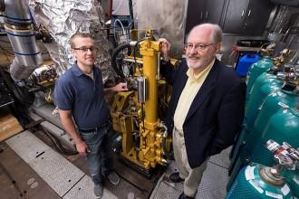 Photo: Mechanical engineering professors Sage Kokjohn, left, and Rolf Reitz