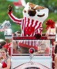 Photo: Bucky Badger riding in Bucky Wagon at 2013 state fair