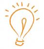 Illustration: Sketch of a lightbulb