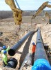 Photo: Geothermal well pipes