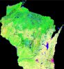 Photo: Wisconsin land cover map