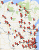 Photo: Interactive map plotting alcohol-related fatal accidents in Wisconsin in 2013