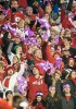 "Photo: Badgers fans waving ""1 in 26"" epilepsy awareness towel"