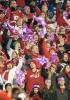 "Photo: Badgers fans waving ""1 in 26"" epilepsy awareness towel"