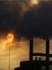 Photo: Smokestacks billowing smoke in China
