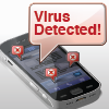Graphic: Cellphone with virus