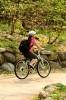 Photo: Bicyclist on bike path
