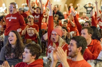 Photo: Fans cheering in Rathskeller