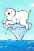 Illustration: Polar bear on iceberg