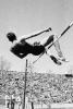Photo: High-jumper crossing bar