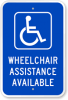 Graphic: Wheelchair assistance sign