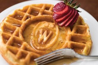 Photo: Waffle with W crest