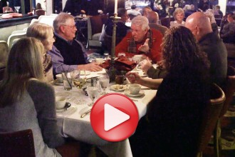 Photo: Diners at table in supper club