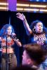 Photo: Students singing karaoke