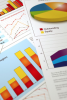 Photo: Array of charts and graphs