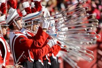 Photo: Trombone players in UW Band