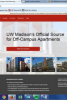 Screenshot of campus housing web page