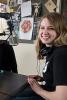 Photo: Two students broadcasting in radio studio