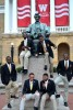 Photo: Students from historically black fraternity gathered around Lincoln statue