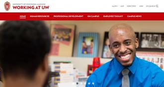 Photo: Screenshot of Working at UW website
