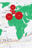 Graphic: Map of where students are studying abroad