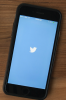 Photo: Phone with Twitter logo on screen