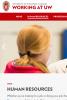 Screenshot: HR page on Working at UW website