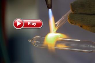 Photo: Torch heating glass tube