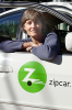 Photo: Woman in Zipcar