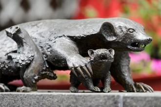 Photo: Sculpture of mother badger & cubs