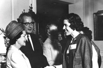 Photo: Kathryn Clarenbach and Lady Bird Johnson