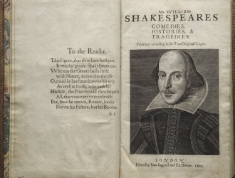 Photo: Title page of First Folio
