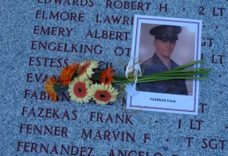 Photo: Fazekas' photo on memorial