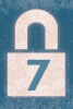 Graphic: Padlock with a 7 on it