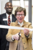 Photo: Rebecca Blank cutting ceremonial ribbon